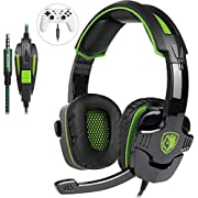#LightningDeal Wired Stereo Gaming Headset,Over Ear Noise Isolating Headphones with Microphone for PS4/NewXboxOne/PC/Mac/Smartphones/Tablets/Laptop