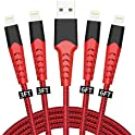 4-Pack Borsvaen Nylon Braided Lightning Charge & Sync Cable