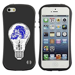 Be-Star Colorful Printed Design Anti-Shock Iface First Class Tpu Case Bumper Cover For Apple iPhone 5 / iPhone 5S ( light bulb blue white idea skull deep ) Kimberly Kurzendoerfer