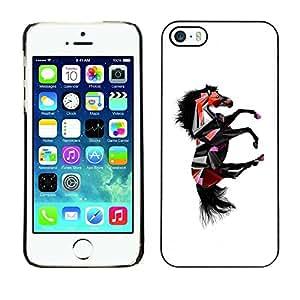 Be Good Phone Accessory // Dura Cáscara cubierta Protectora Caso Carcasa Funda de Protección para Apple Iphone 5 / 5S // Dark Fantasy Horse