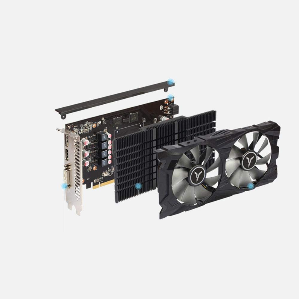 GUOJIAYI Yeston RX 560 D RX560D 4G D5 GAEA Graphic Card Video Card Dual Fan Cooling 4GB Memory GDDR5 128bit DP + HD + DVI-D GPU for pc