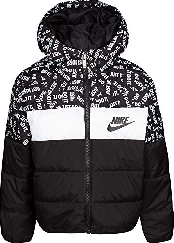 Nike Boy's Polyfill Blocked Insulated Puffer Jacket (Black, 4) by Nike (Image #2)