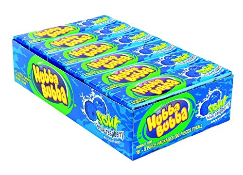 Hubba Bubba Flavors - Product Of Hubba Bubba , Sour Blue Raspberry, Count 18 (5S) - Gum / Grab Varieties & Flavors