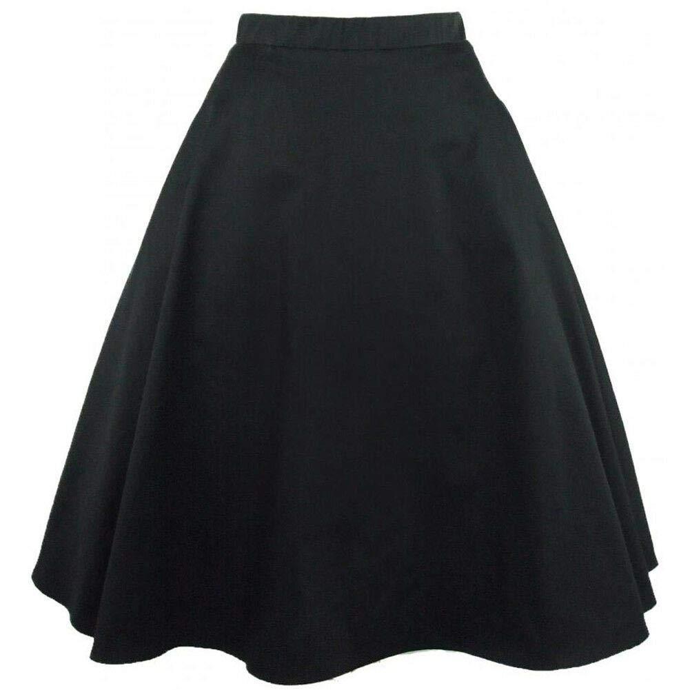 09ea6fbd5e30 Amazon.com: Hemet Women's Black Full Circle Skirt: Clothing