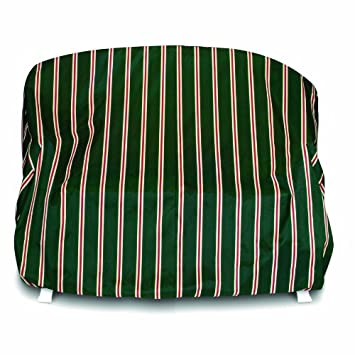 Amazon Com Two Dogs Designs Loveseat Cover Green Stripes Patio