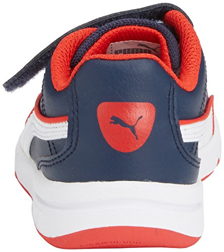 Puma Stepfleex FS SL V Kids - zapatillas de running de material sintético infantil Azul (peacoat-white-high risk red 09)