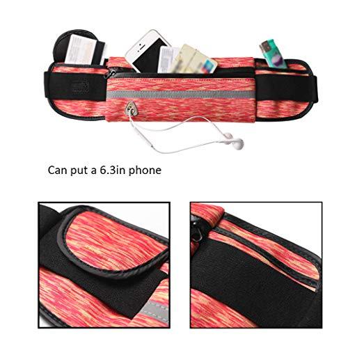 Bolso Pink Invisible Cintura Delgado color Mini Impermeable De Características Deportivo Del Teléfono Blue 5wg47g
