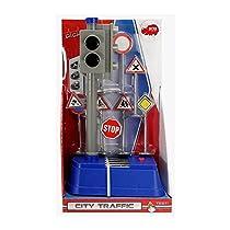 Dickie Toys 203741001 - Luces de la ciudad de Tráfico, con pilas semáforos con el cambio automático de luz, coche y modelo de tráfico