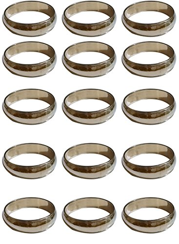 ARN Craft Handmade Gold Napkin Rings Set of 15 Brass for Home Kitchen Dining Room Table (CW- 10-15)