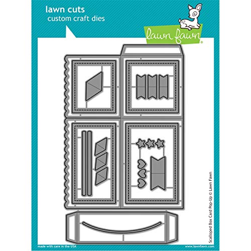 - Lawn Fawn Scalloped Box Card Pop-up Die - LF1376