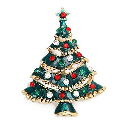 Christmas Decor,Toraway Rhinestone Christmas Tree Brooch Pin Xmas Gift (Antler Christmas Tree For Sale)