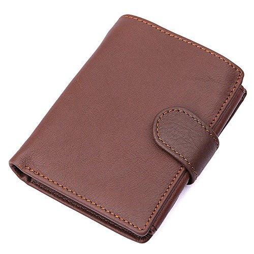 wallet section wallet open short Coffee leather cross LIGYM leather Men's FXwXqa8