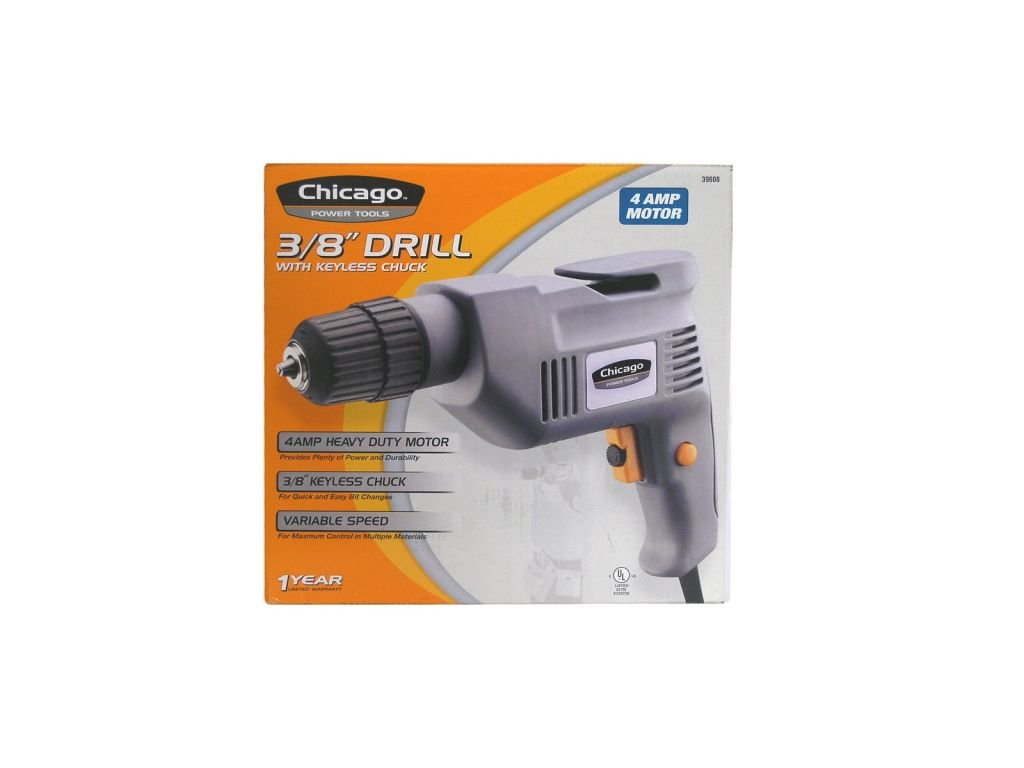 Chicago Power Tools 39608 3/8-Inch Corded Drill