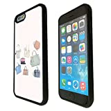 1255 - Cool Fun Trendy Cute Fashion Bloggers Handbag Luxury Clothing Design iphone 6 6S 4.7'' Fashion Trend CASE Gel Rubber Silicone All Edges Protection Case Cover - Black