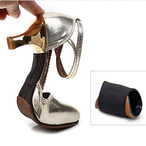 Ballroom 5 Dance 5cm 37EU Dance Color Soft 7US 8 Slip 5UK Summer Shoes Women Size 4 Latin Non Heel Soled QIANDA Colors Adult Height 3 Dancing RSxRnY