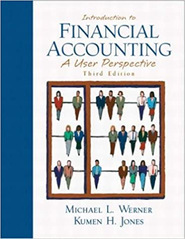 Introduction To Financial Accounting A User Perspective 3rd