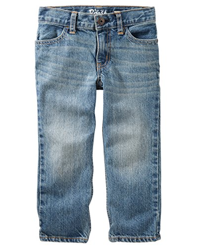 Osh Kosh Boys' Straight Jeans, Natural Indigo, 5R