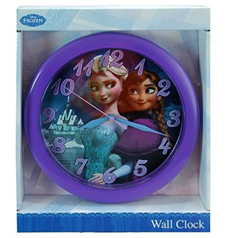 Amazon com: Disney Frozen 10 inch Round Wall Clock in Open