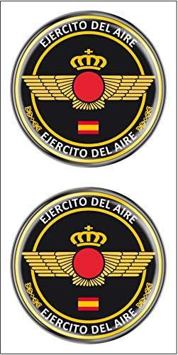 Artimagen Pegatina Círculo Ejército del Aire 2 uds. Resina ø 33 mm/ud.: Amazon.es: Coche y moto