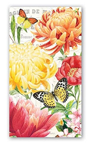 15-Count 3-Ply Paper Hostess Napkins, Morning Blossoms by Michel Design Works