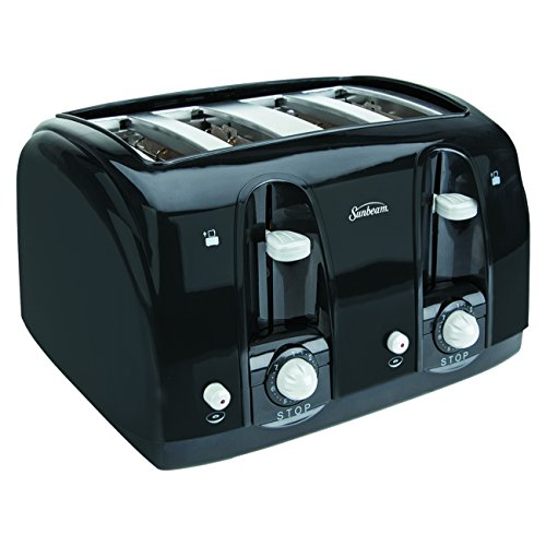 Sunbeam 3911 4-Slice Wide Slot Toaster, Black