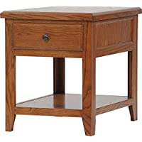 American Heartland #43313MD Oak End Table, Medium