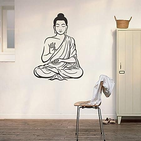 Kicode Wandaufkleber Hinduistischer Buddha Buddhismus Abziehbild