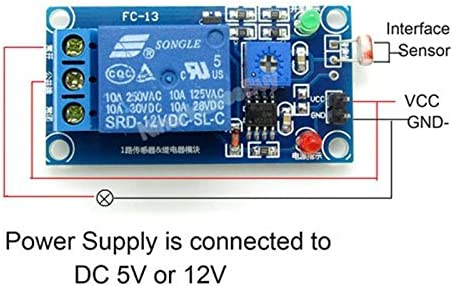 Photosensitive resistance relay control module//light-operated switch DC 12VYEG