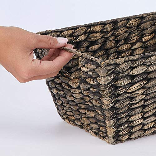 home, kitchen,  storage, organization 12 picture mDesign Natural Woven Hyacinth Closet Storage Organizer Basket deals