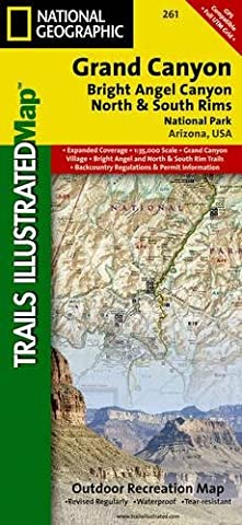 Grand Canyon, North and South Rims [Grand Canyon National Park] (National Geographic Trails Illustrated - Detail Map