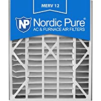Nordic Pure 20x25x5 (4-7/8 Actual Depth) MERV 12 Trion Air Bear Replacement Pleated AC Furnace Air Filter, Box of 1