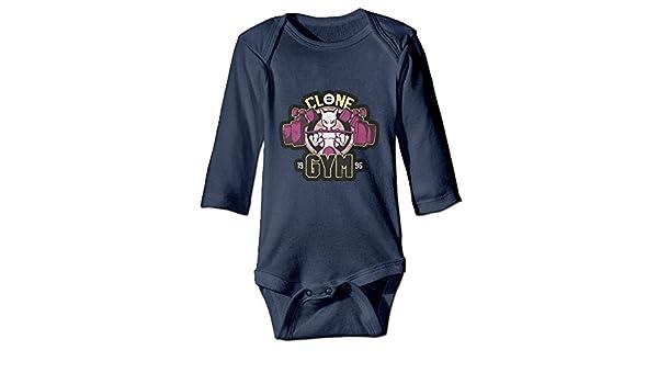 Duola Poke Mewtwo Gym 1996 Long-Sleeve Romper Bodysuit For 6-24 Months Newborn Baby Navy