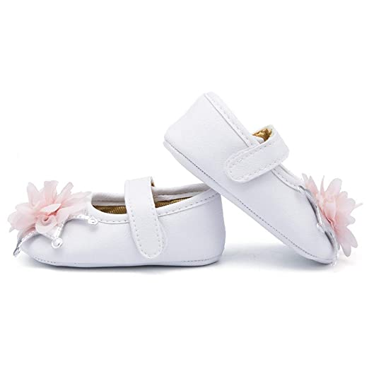 Amazon.com: Lurryly Baby Girls Flats with Flower - Zapatos ...