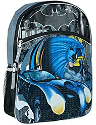 DC Comics Boys Batman Full Size Backpack, Black, One Size