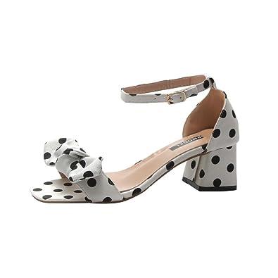 2946bff1297b22 Topmodel Mode Femme Romaine éTé Vague Point Bowknot Boucle Sangle Loisirs  Sandale Chaussures - Forme Bouche