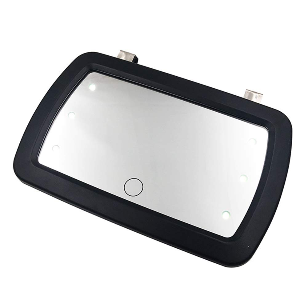 GEZICHTA Auto Sonnenblende Spiegel LED Kosmetikspiegel HD Sonnenschutz Kosmetikspiegel Finger Touch Schalter Schminkspiegel