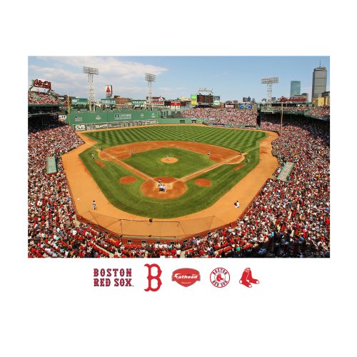 Fathead MLB Boston Red Sox Boston Red Sox: Fenway Park Behind Home Plate Mural - Giant Officially Licensed MLB Removable Wall Graphic