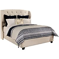 Republic Design House 11341-B Archer Storage Platform Bed, Queen, Ivory