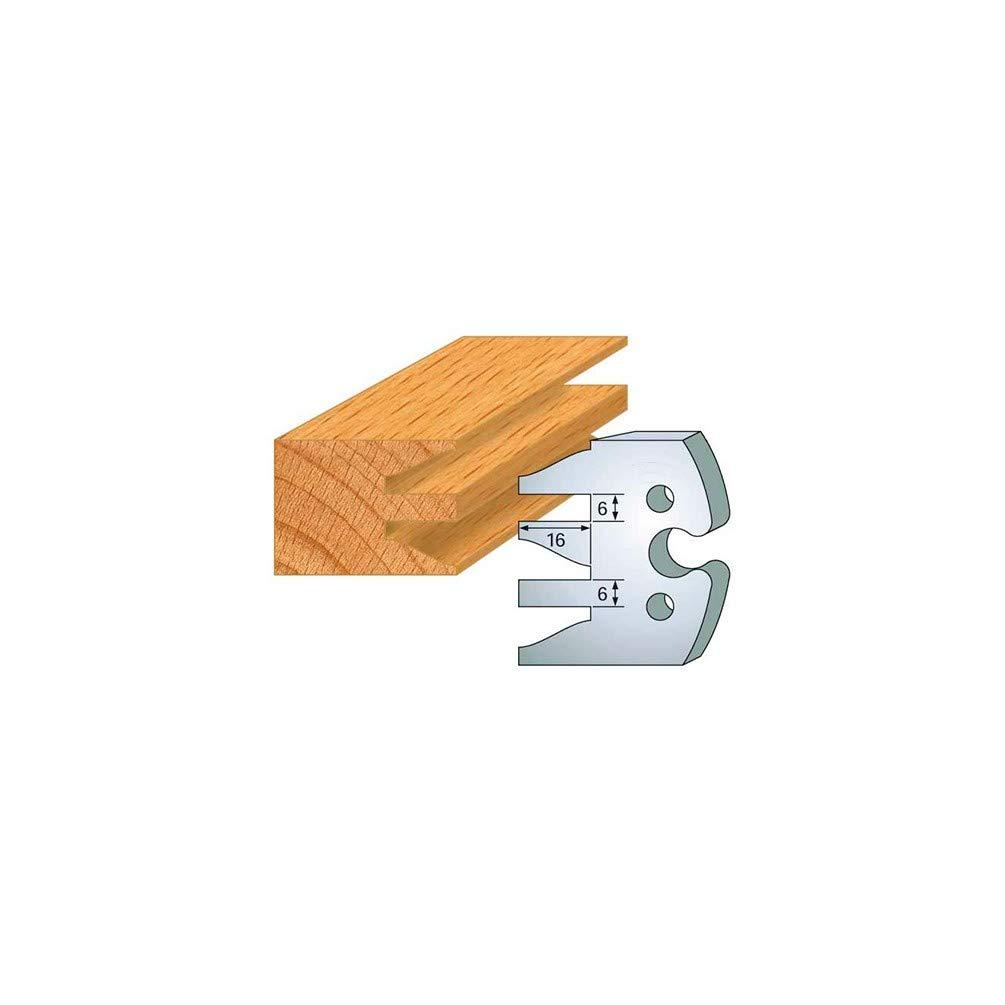 2 Trous diam/ètre 6 mm entraxe 24 mm Fers de Toupie /Épaisseur 5,50 mm Hauteur 50 mm