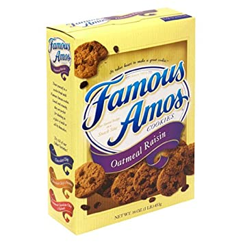 Famous Amos Oatmeal Raisin Cookies, 16-Ounce Box: Amazon.com ...