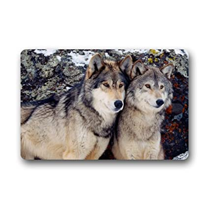 Amazon.com: Wolf Couple Love Funny Animal Tela no tejida ...