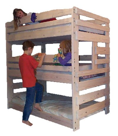 Triple Bunk Diy Woodworking Plan To Build Your Own And Hardware Kit That Sleeps Three Wood Not Included Buy Online In Guernsey At Guernsey Desertcart Com Productid 9135785