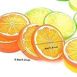IETONE 30 Pieces Artificial Plastic Lemon Slices