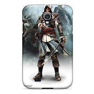 Premium Tpu Assassins Creed Iv Black Flag Game Cover Skin For Galaxy S4