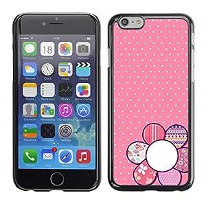 """For Apple Apple iPhone 6 / 6S (4.7 inches!!!) Plus / 6S Plus ( 5.5 ) Case , Modelo rosado del lunar floral Pétalo Blanca"""" - Diseño Patrón Teléfono Caso Cubierta Case Bumper Duro Protección Case Cover Funda"""