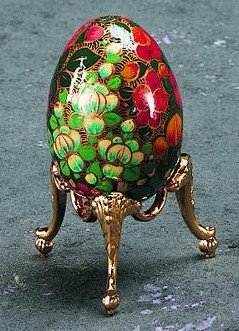 Brass Egg Stand (Brass Egg Stand / Ornament Display)