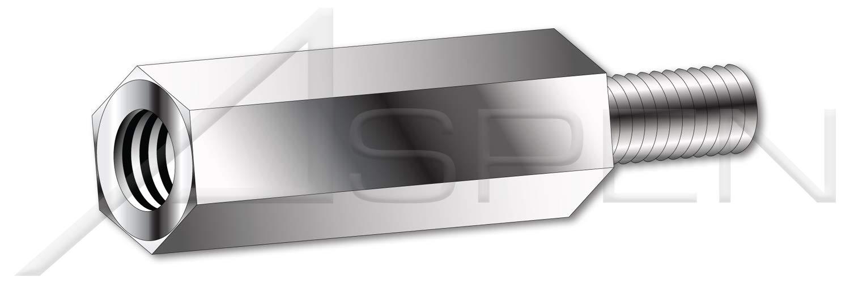 (100 pcs) M4-0.7 X 14mm, Hex Male-Female Standoffs, Metric, 6mm Across Flats, Stainless Steel