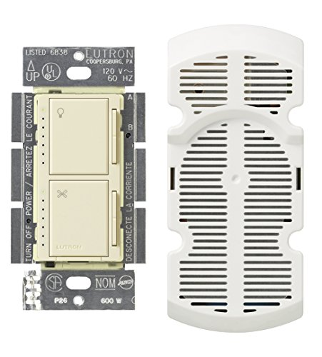 Lutron MA-LFQM-AL 300 Watt Maestro Multi-Location Fan and Light Control, Almond