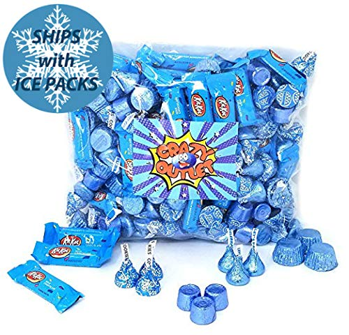 Light Blue Candy Chocolate Assortment - Rolo, Reese's,