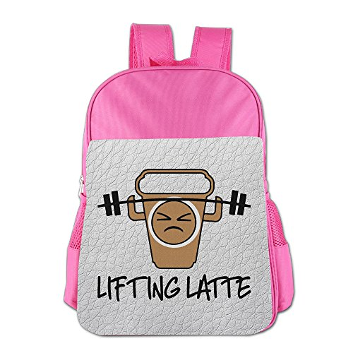 Price comparison product image Lifting Latte - Weight Lifting Coffee School Backpack For Girls Boys Cute Bookbag Outdoor Daypack
